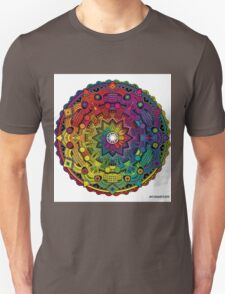 "Mandala 59 ""Time Dilation"" Rainbow Multicoloured Unisex T-Shirt"