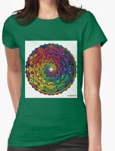 "Mandala 59 ""Time Dilation"" Rainbow Multicoloured Womens Fitted T-Shirt"