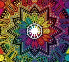 "Mandala 59 ""Time Dilation"" Rainbow Multicoloured Sticker"