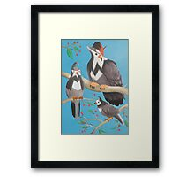 Starly and evolutions Framed Print
