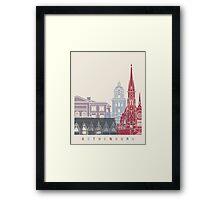 Gothenburg skyline poster Framed Print