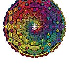 "Mandala 59 ""Time Dilation"" Rainbow Multicoloured by mandala-jim"