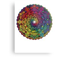 """Mandala 59 """"Time Dilation"""" Rainbow Multicoloured Metal Print"""