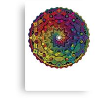 "Mandala 59 ""Time Dilation"" Rainbow Multicoloured Canvas Print"