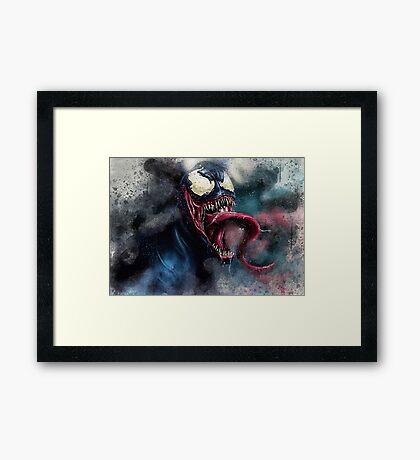 Venom Villain Marvel  Framed Print