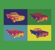 1965 Ford Mustang Convertible Pop Art Design Baby Tee