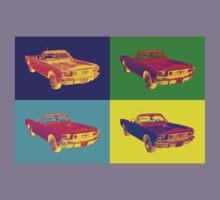 1965 Ford Mustang Convertible Pop Art Design Kids Clothes