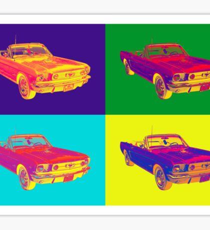 1965 Ford Mustang Convertible Pop Art Design Sticker