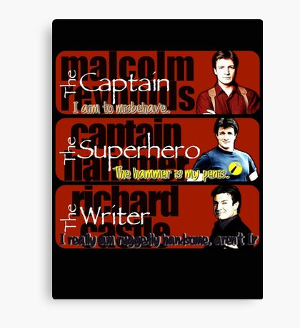 The Captain, The Superhero, and The Writer Quotes Canvas Print