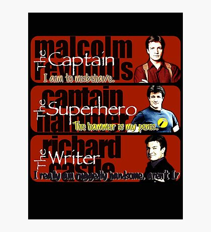 The Captain, The Superhero, and The Writer Quotes Photographic Print