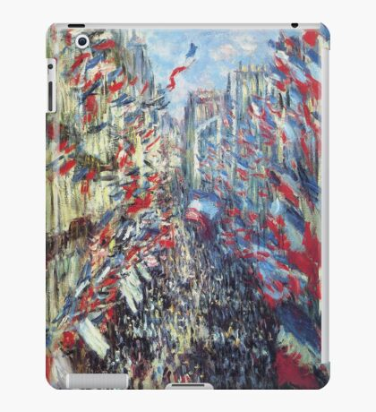 Claude Monet - The Rue Montorgueil Paris iPad Case/Skin