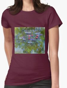 Claude Monet - Water Lilies 1919 1 Womens Fitted T-Shirt