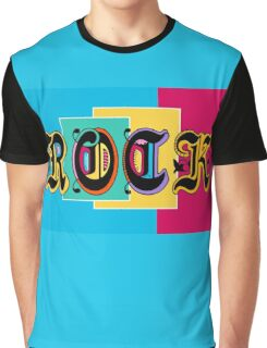 Colorful Happy Cool Rock Music Graphic Design Graphic T-Shirt