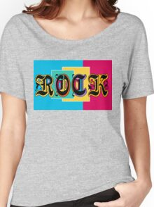 Colorful Happy Cool Rock Music Graphic Design Women's Relaxed Fit T-Shirt