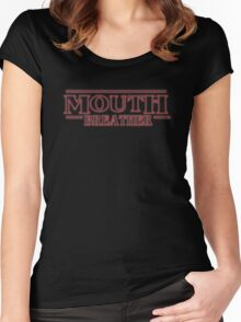 Stranger Things Mouth Breather Women's Fitted Scoop T-Shirt