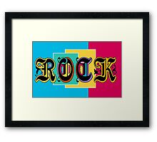 Colorful Happy Cool Rock Music Graphic Design Framed Print