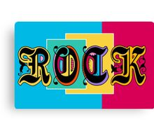 Colorful Happy Cool Rock Music Graphic Design Canvas Print