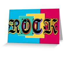 Colorful Happy Cool Rock Music Graphic Design Greeting Card