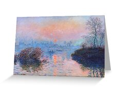 Claude Monet - Sunset On The Seine At Lavacourt Winter Effect 1880 Greeting Card