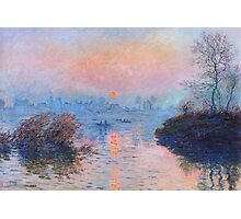 Claude Monet - Sunset On The Seine At Lavacourt Winter Effect 1880 Photographic Print