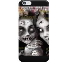 zombie girls iPhone Case/Skin