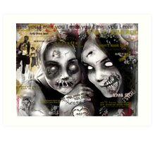 zombie girls Art Print