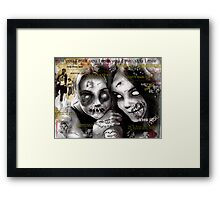 zombie girls Framed Print