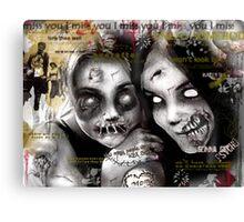 zombie girls Canvas Print