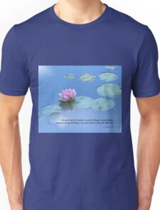 Serenity Prayer Pink Water Lily Unisex T-Shirt