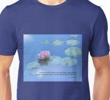 Serenity Prayer Pink Water Lily Unisex T-Shirt