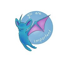 Zubat thinks you're important Photographic Print