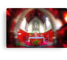 The red chapel Canvas Print