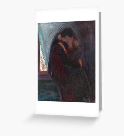 Edvard Munch - The Kiss Greeting Card
