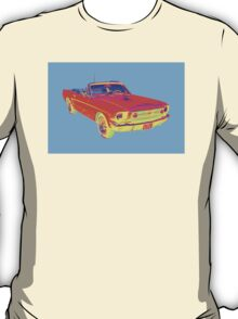 1965 Ford Mustang Convertible Pop Image T-Shirt