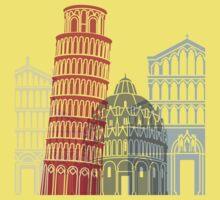 Pisa skyline poster One Piece - Short Sleeve