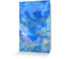 Cloudy Sky Background Greeting Card