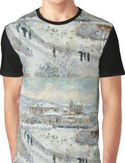 Claude Monet - View Of Argenteuil In The Snow Graphic T-Shirt