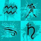 Astrology Design - Aquarius by OddworldArt