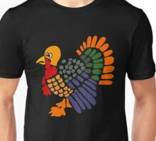 Funky Funny Turkey Abstract Art Unisex T-Shirt