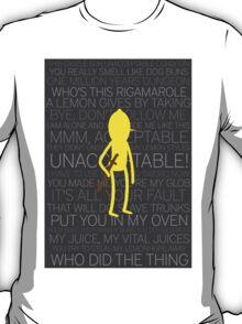 Lemongrab Silhouette & Quotes T-Shirt