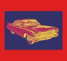 1960 Cadillac Luxury Car Pop Image One Piece - Long Sleeve