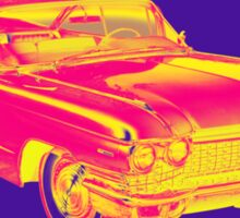1960 Cadillac Luxury Car Pop Image Sticker