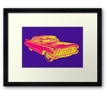 1960 Cadillac Luxury Car Pop Image Framed Print