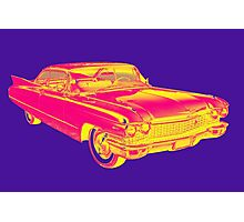 1960 Cadillac Luxury Car Pop Image Photographic Print