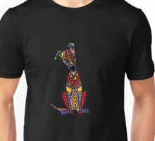 Funny Funky Colorful Greyhound Dog Abstract Art Unisex T-Shirt