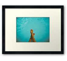 Young Girl Relaxing In Swimming Pool Framed Print
