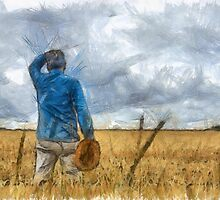 Out in the Fields Pencil by Edward Fielding