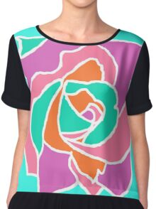 Pop Art Rose Chiffon Top