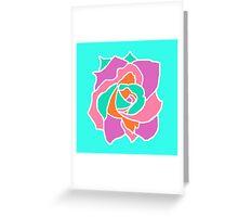 Pop Art Rose Greeting Card