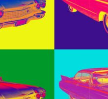 Colorful 1960 Cadillac Luxury Car Pop Art Sticker